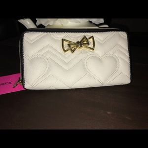 Betsey Johnson Quilted Black & White Wallet